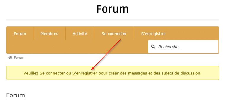 forum inscription