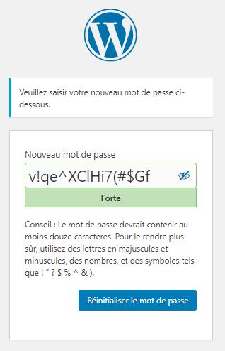 choix mot de passe