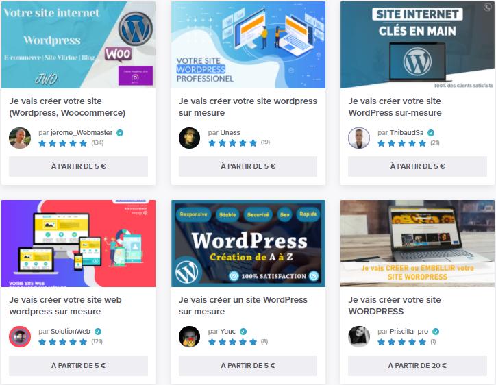 5euros créer site wordpress