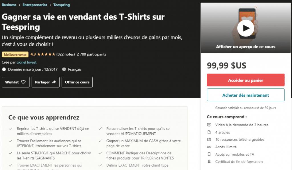 Gagner sa vie en vendant des T-Shirts sur Teespring _ Udemy