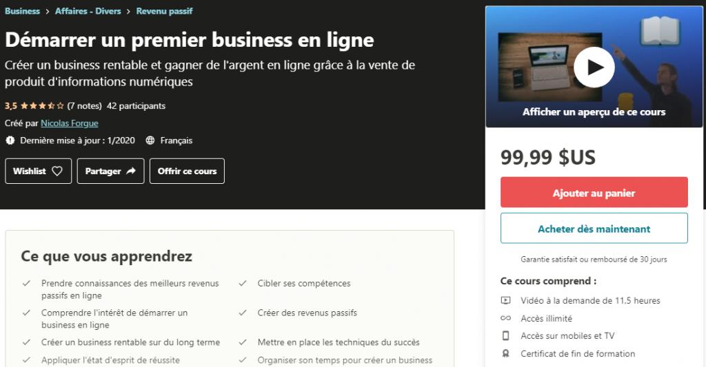 Démarrer un premier business en ligne _ Udemy