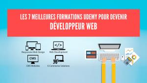 Les 7 meilleures formations Udemy pour développeur web