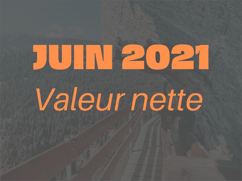 Valeur nette Juin 2021